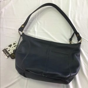 The saks Blue Leather handbag